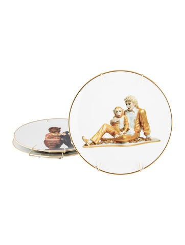 bernardaud banality series plates by jeff koons decor and accessories bdd20170 the realreal. Black Bedroom Furniture Sets. Home Design Ideas