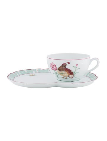 Bernardaud Pergola Coffee Cup and Saucer Set None