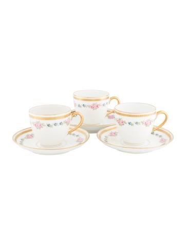 Bernardaud 6-Piece Vintage Porcelain Demitasse Set None