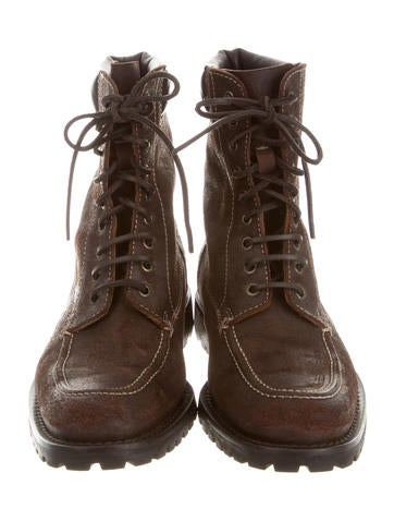 Distressed Suede Logging Boots