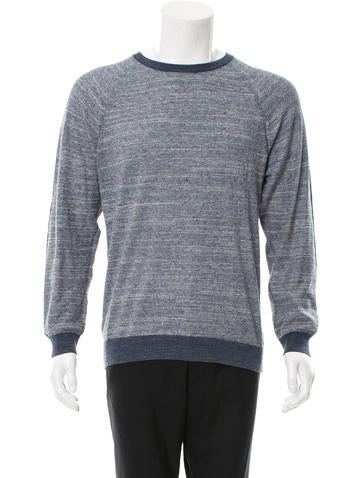 Billy Reid Mélange Crew Neck Sweater None