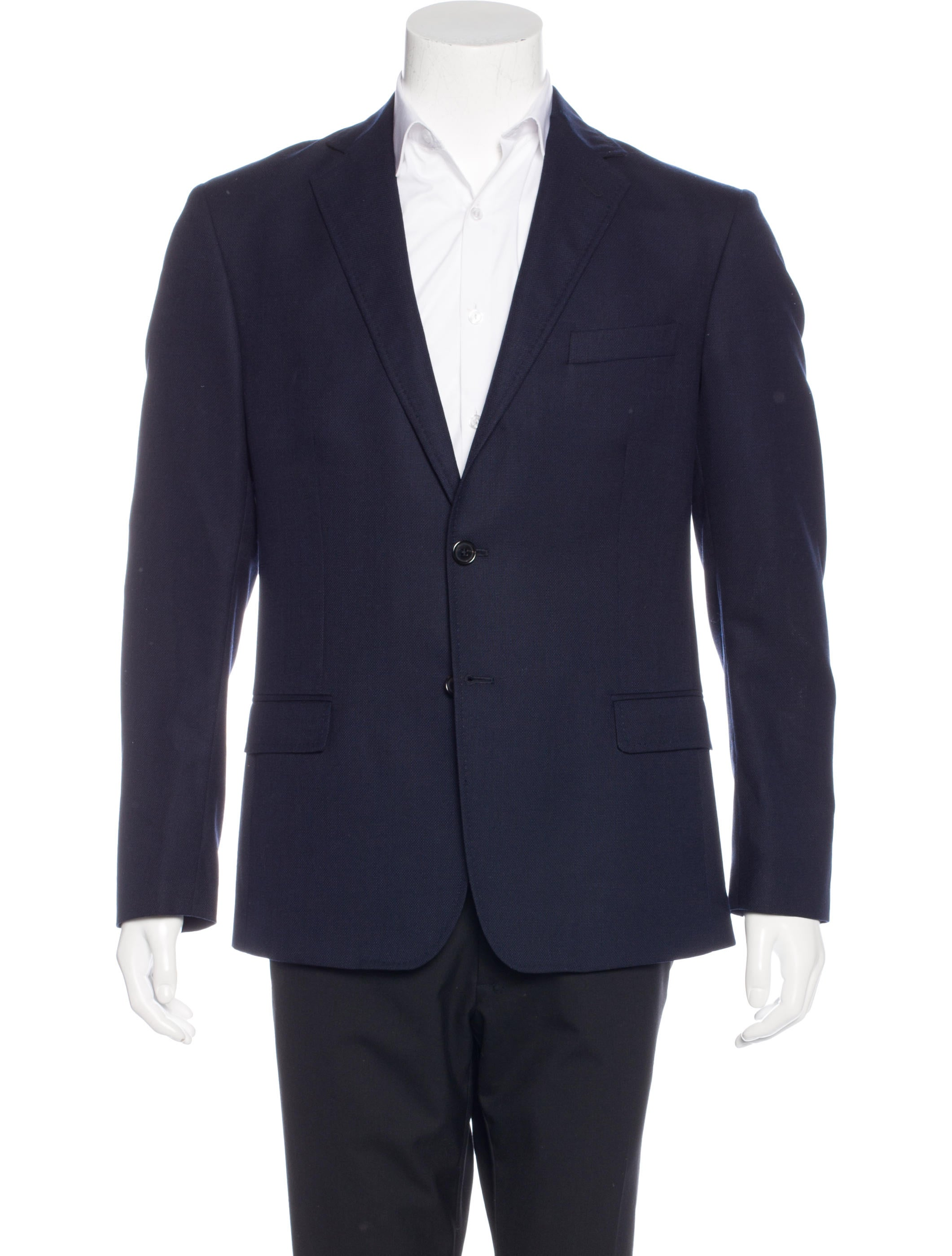 More Details Giorgio Armani Men's Micro-Tile Wool Sport Coat Jacket Details Giorgio Armani sport coat in micro tile weave. Notched lapel; two-button front. Basted sleeves. Chest welt pocket. Front flap pockets. Double-vented back. Virgin wool/cashmere. Viscose lining.