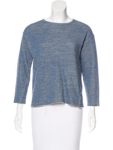 Billy Reid Long Sleeve Crew Neck Sweater None