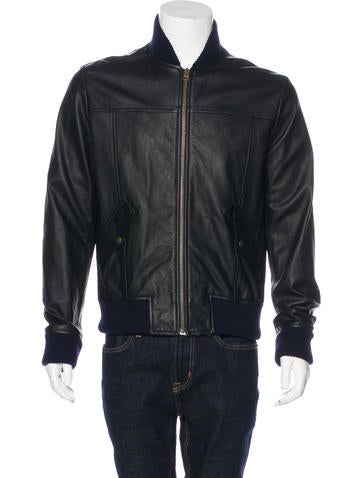 Billy Reid Macon Leather Bomber Jacket None