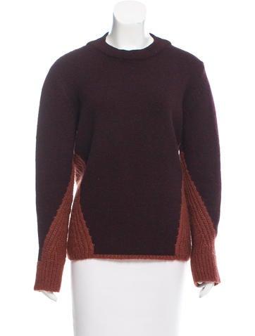 Billy Reid Wool & Mohair-Blend Colorblock Sweater None
