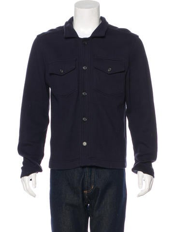 Billy Reid Knit Button-Up Jacket None