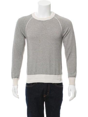 Billy Reid Striped Crew Neck Sweater None