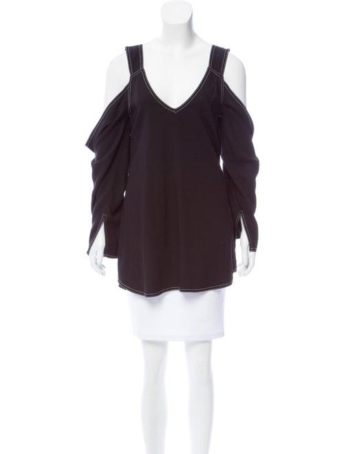 Beaufille Cutout Long Sleeve Top Black
