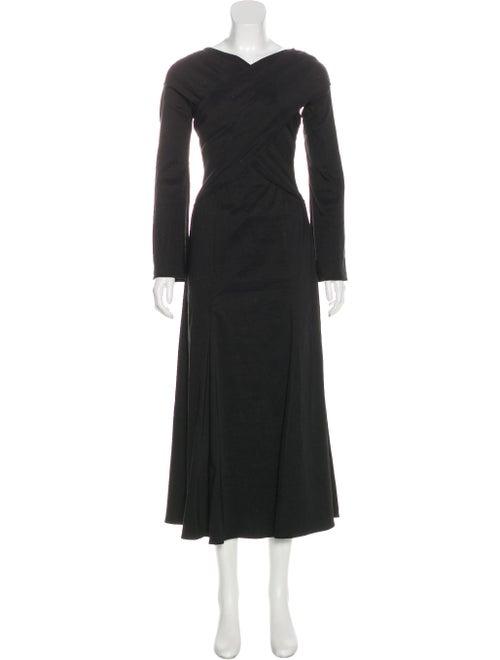 Beaufille Maxi A-Line Dress Black