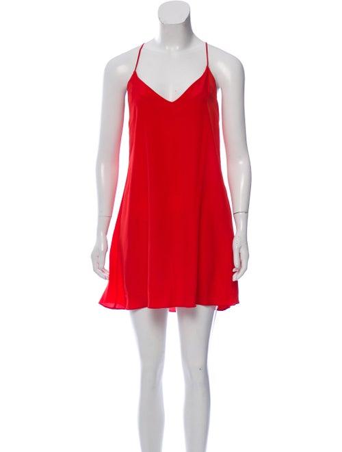 Beaufille Silk-Blend Mini Dress Red