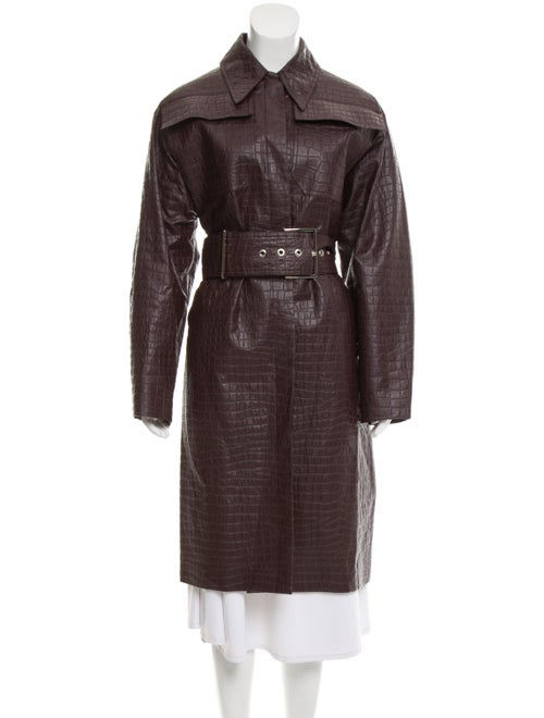 Beaufille Embossed Long Coat
