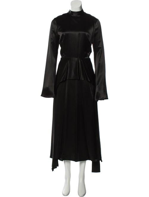 Beaufille Mock Neck Long Dress Black