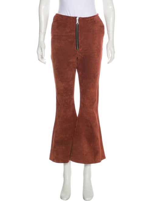 Beaufille Suede Flared Pants Brown