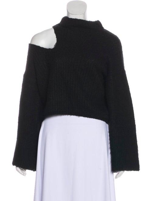 Beaufille Asymmetrical Long Sleeve Sweater Black