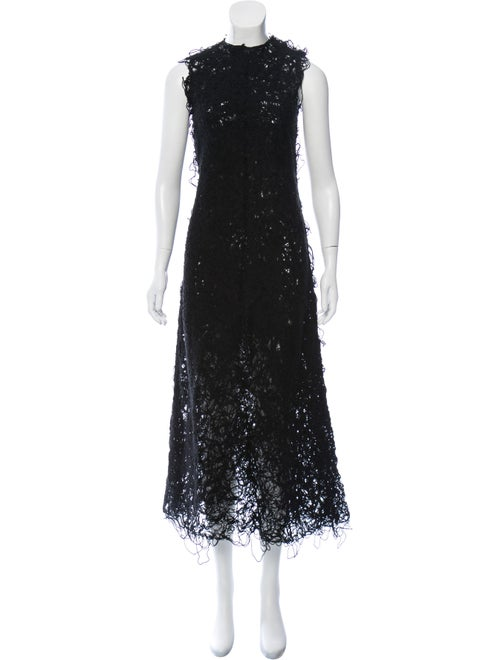 Beaufille Crew Neck Long Dress Black