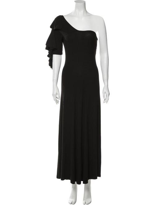 Beaufille One-Shoulder Long Dress Black
