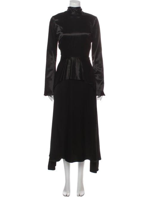 Beaufille Turtleneck Long Dress Black