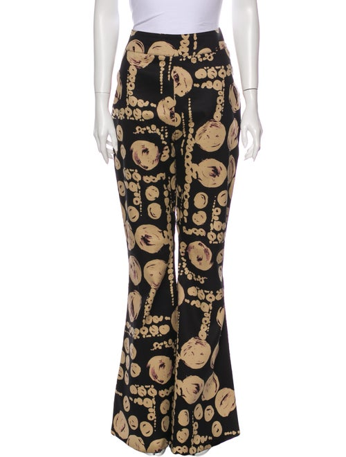 Beaufille Printed Flared Pants Black