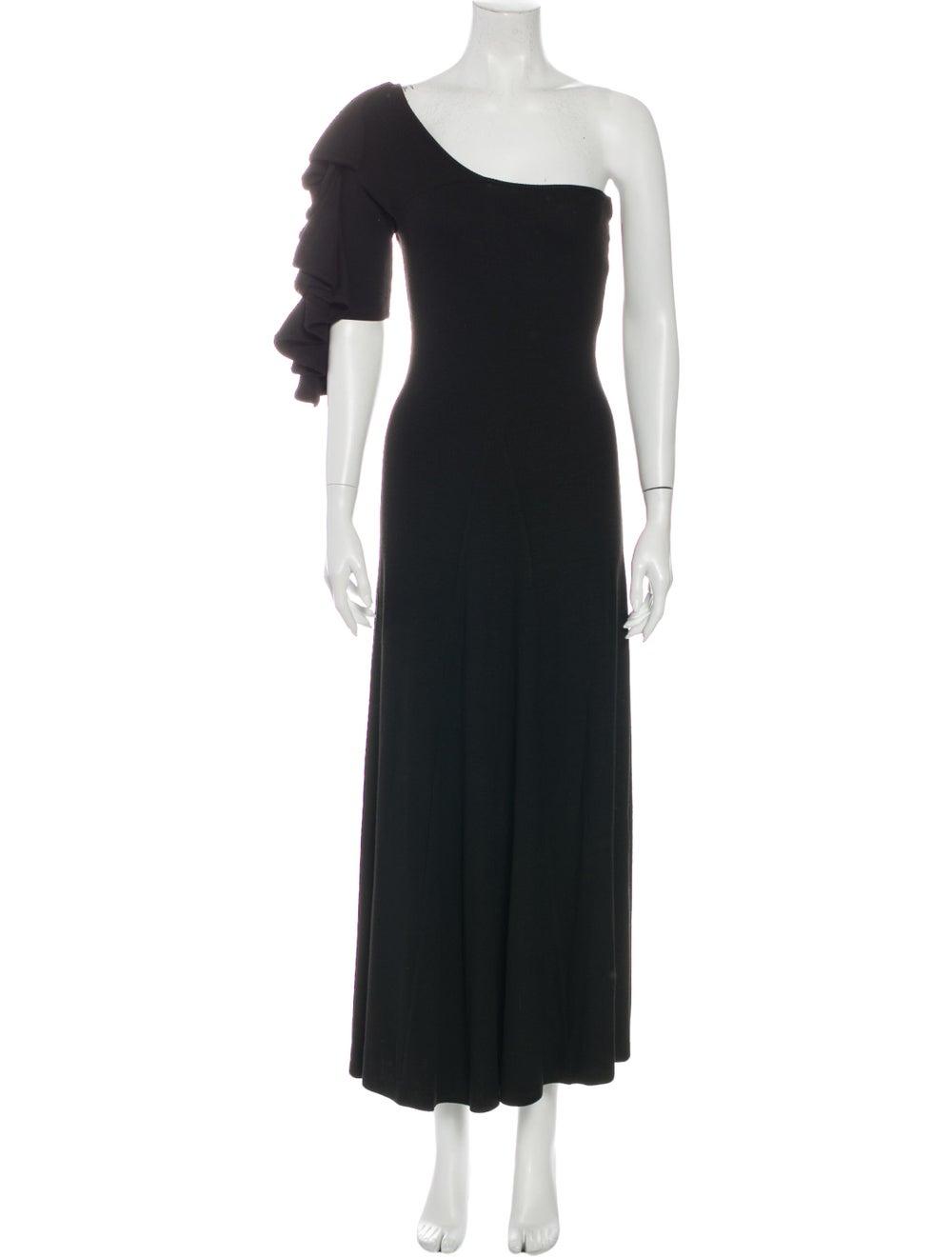 Beaufille One-Shoulder Long Dress Black - image 1