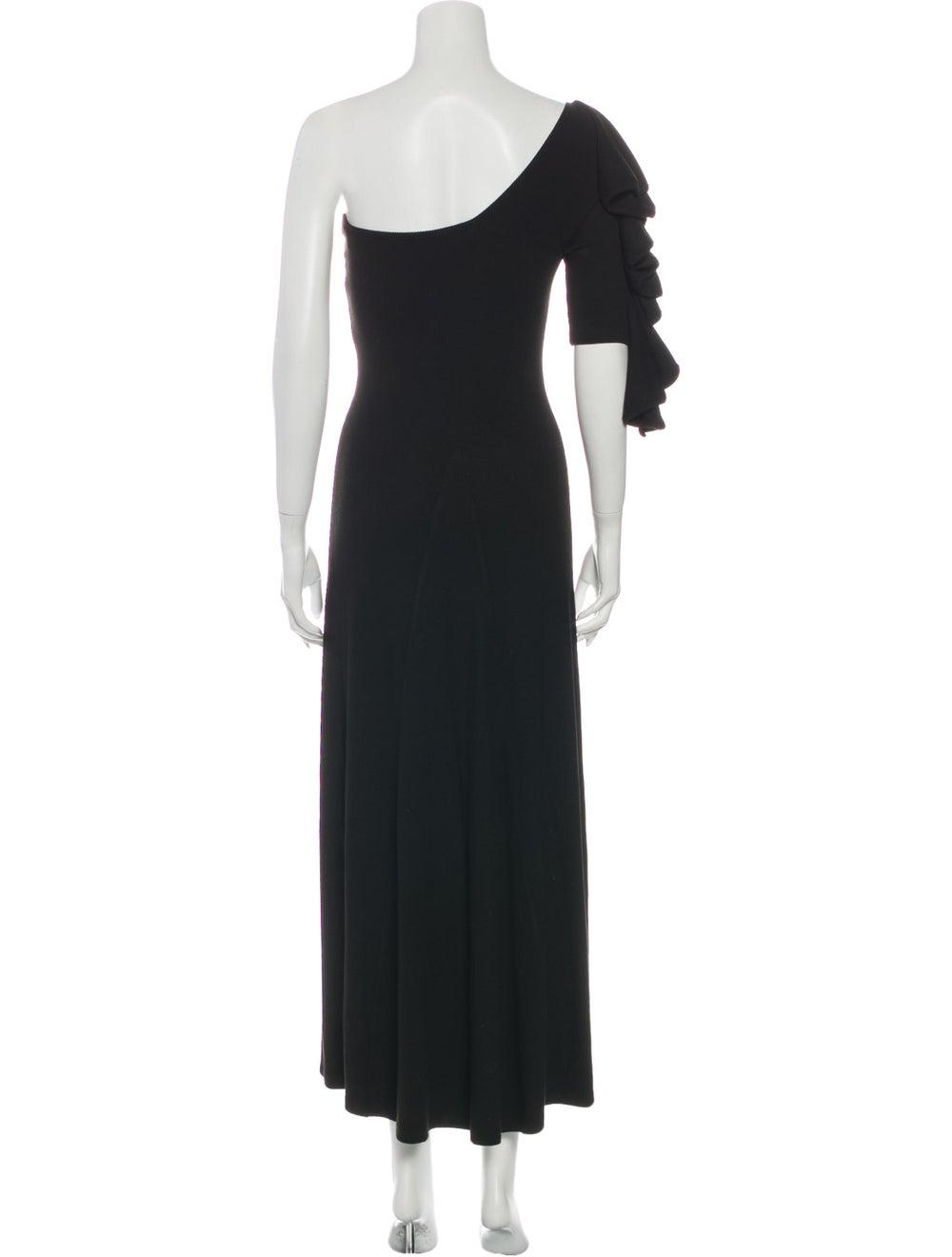 Beaufille One-Shoulder Long Dress Black - image 3