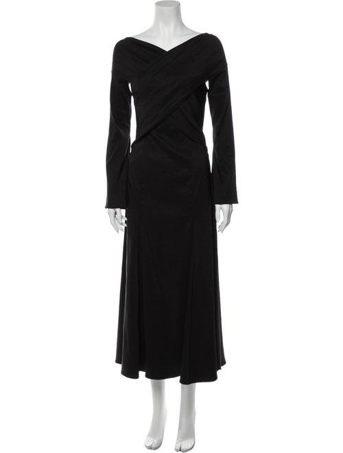 Beaufille Linen Long Dress w/ Tags Black
