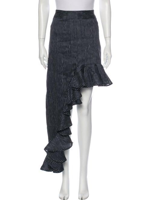 Beaufille Linen Long Skirt Blue