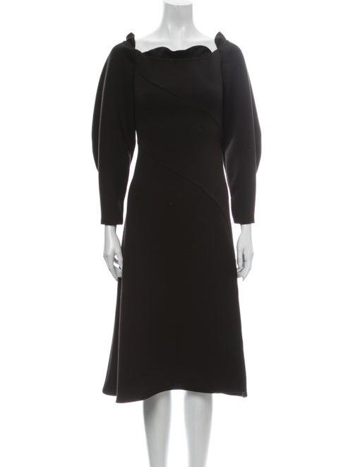 Beaufille Scoop Neck Midi Length Dress Black