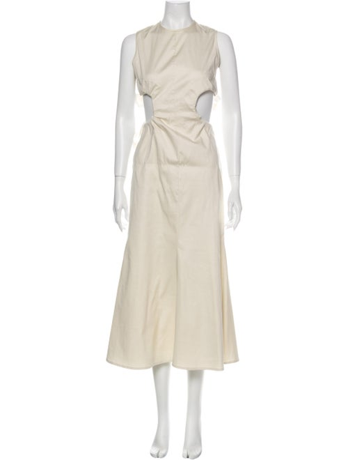 Beaufille Crew Neck Long Dress