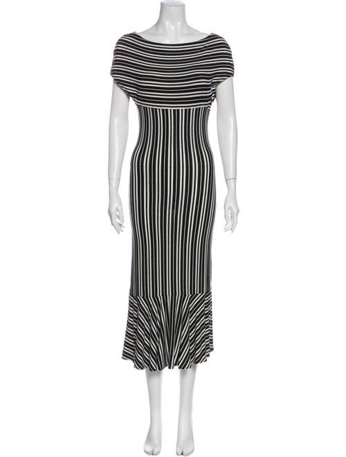 Beaufille Striped Long Dress Black