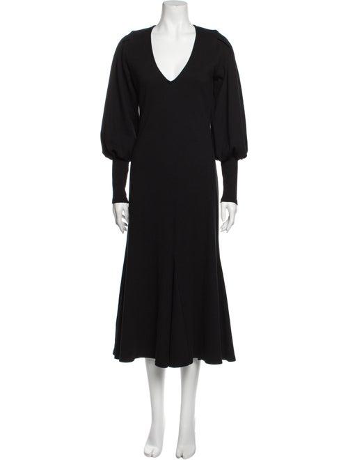 Beaufille V-Neck Long Dress Black