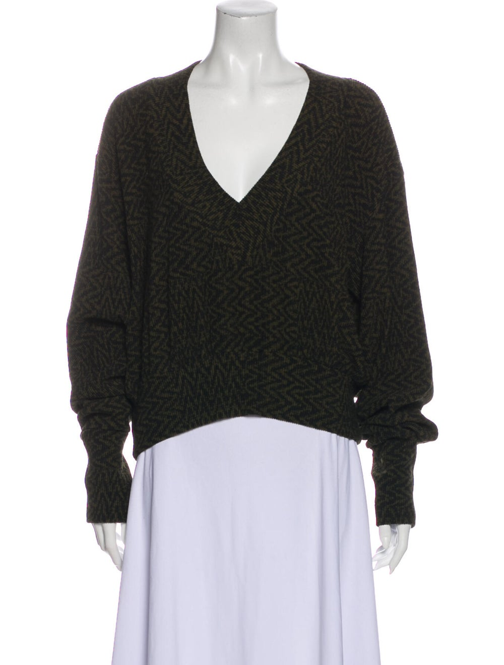 Beaufille V-Neck Sweater w/ Tags Green - image 1
