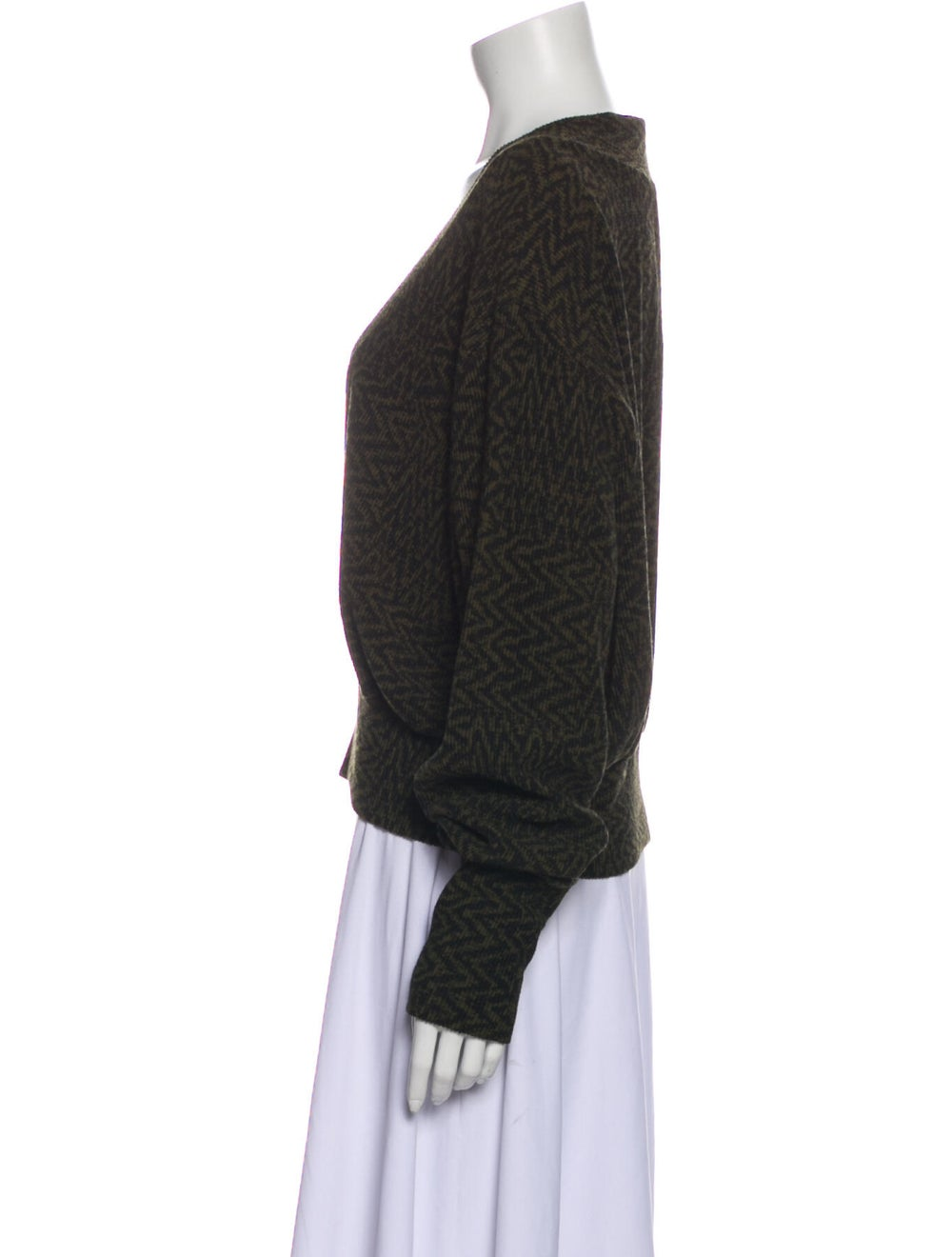Beaufille V-Neck Sweater w/ Tags Green - image 2