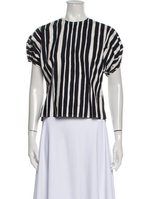 Beaufille Striped Crew Neck Top Black