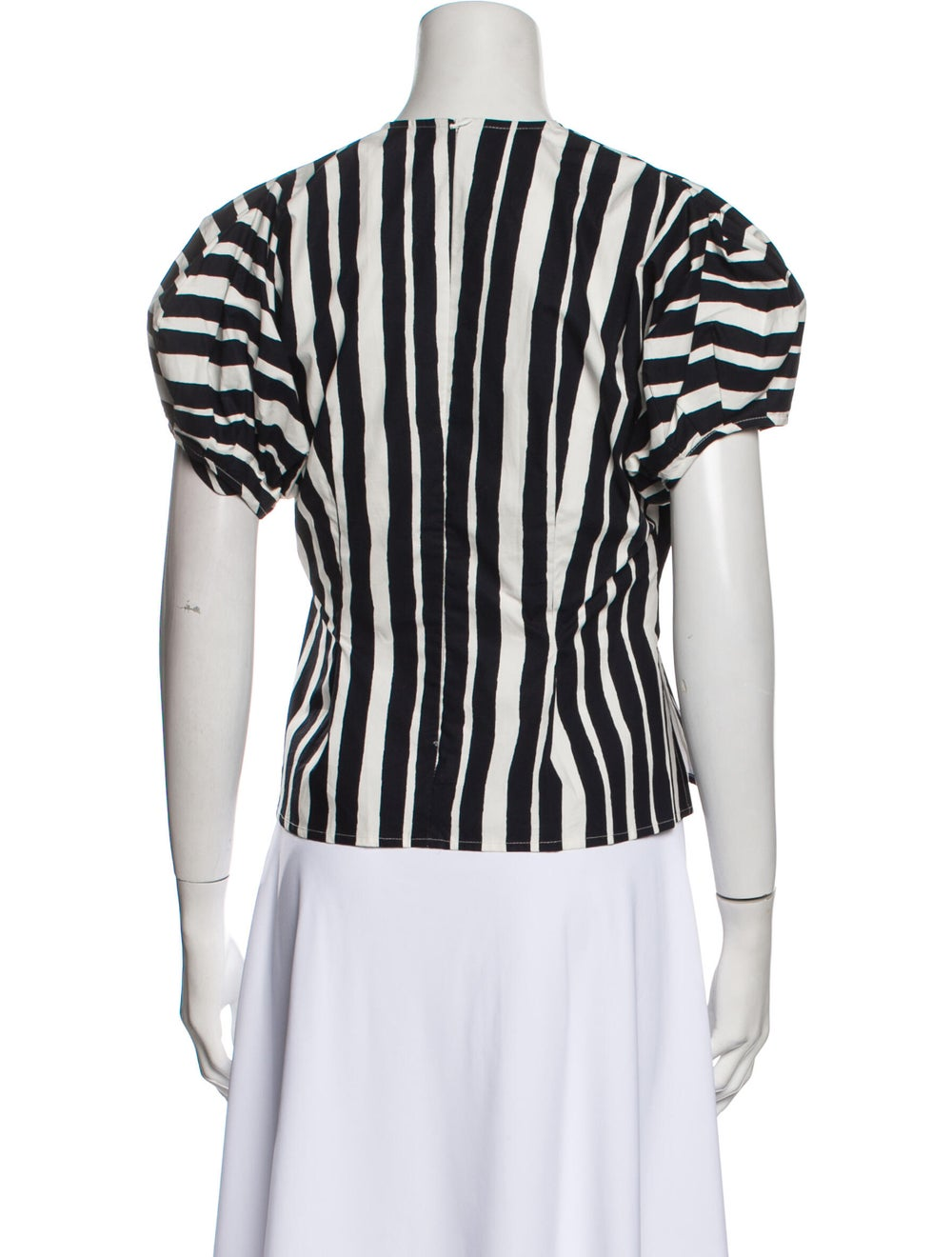 Beaufille Striped Crew Neck Top Black - image 3