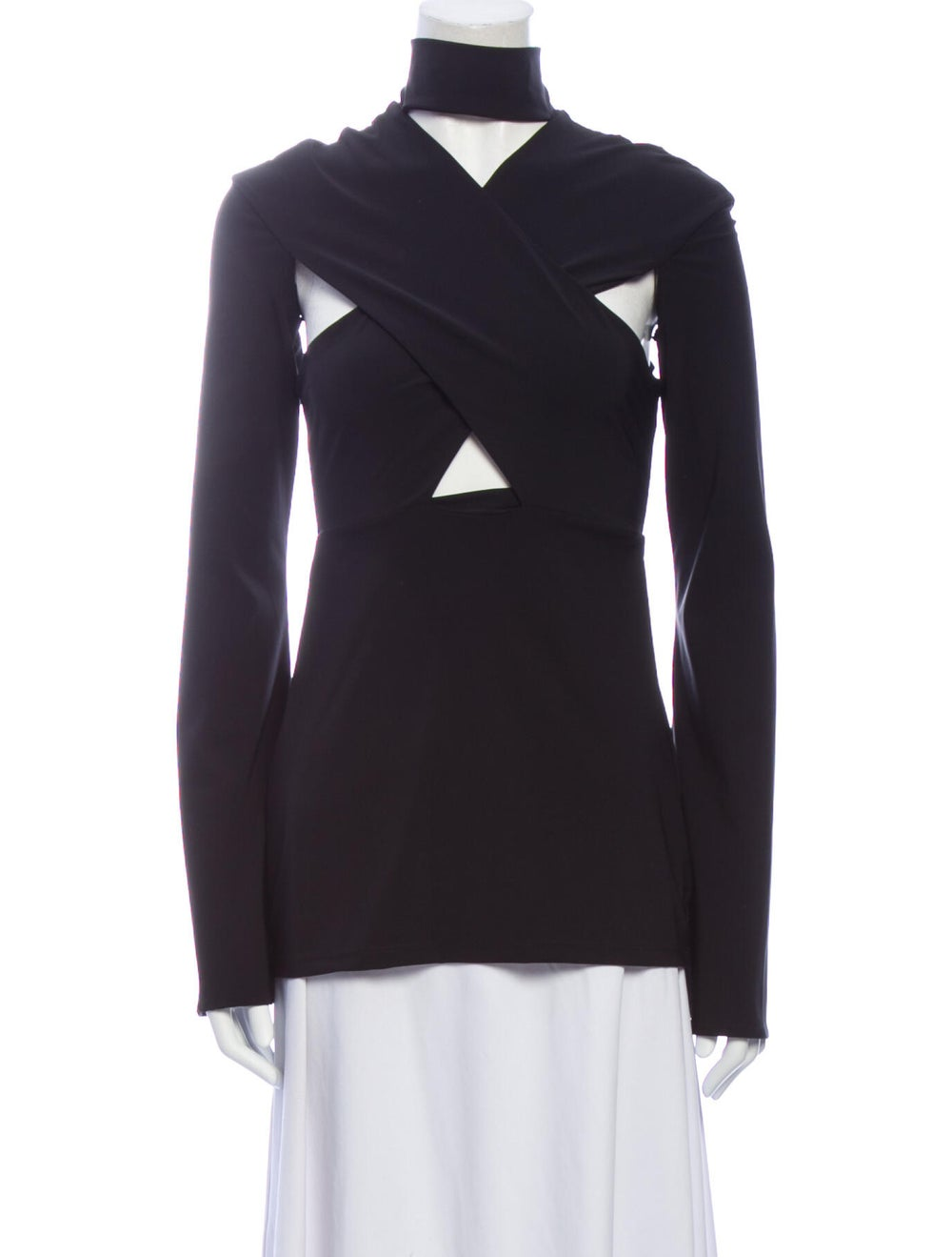 Beaufille Mock Neck Long Sleeve Top w/ Tags Black - image 1