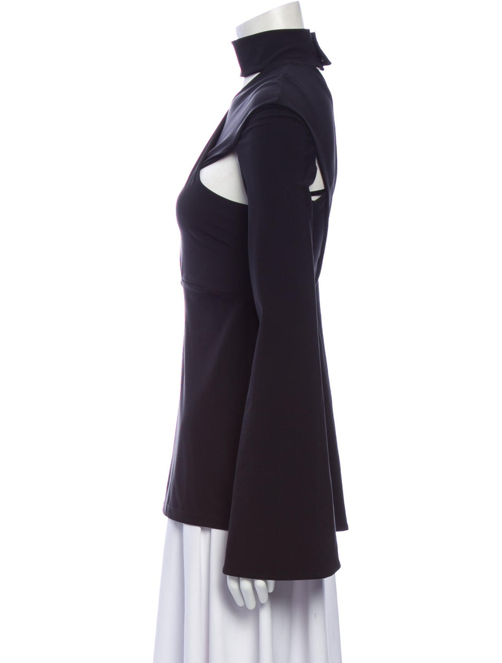 Beaufille Mock Neck Long Sleeve Top w/ Tags Black - image 2