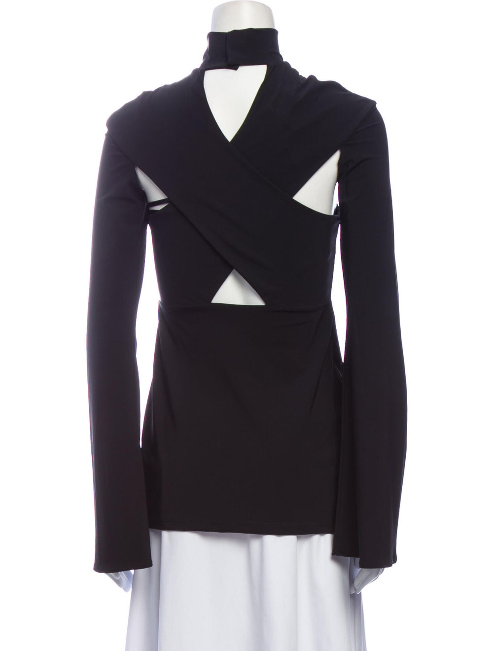 Beaufille Mock Neck Long Sleeve Top w/ Tags Black - image 3