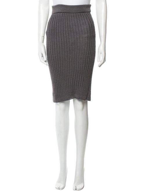 Beaufille Silk Knee-Length Skirt Grey