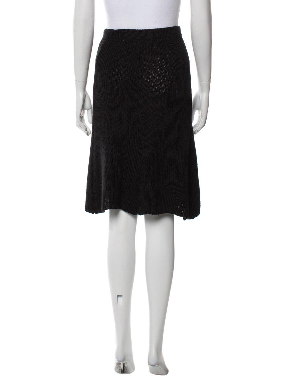 Beaufille Knee-Length Skirt w/ Tags Black - image 3