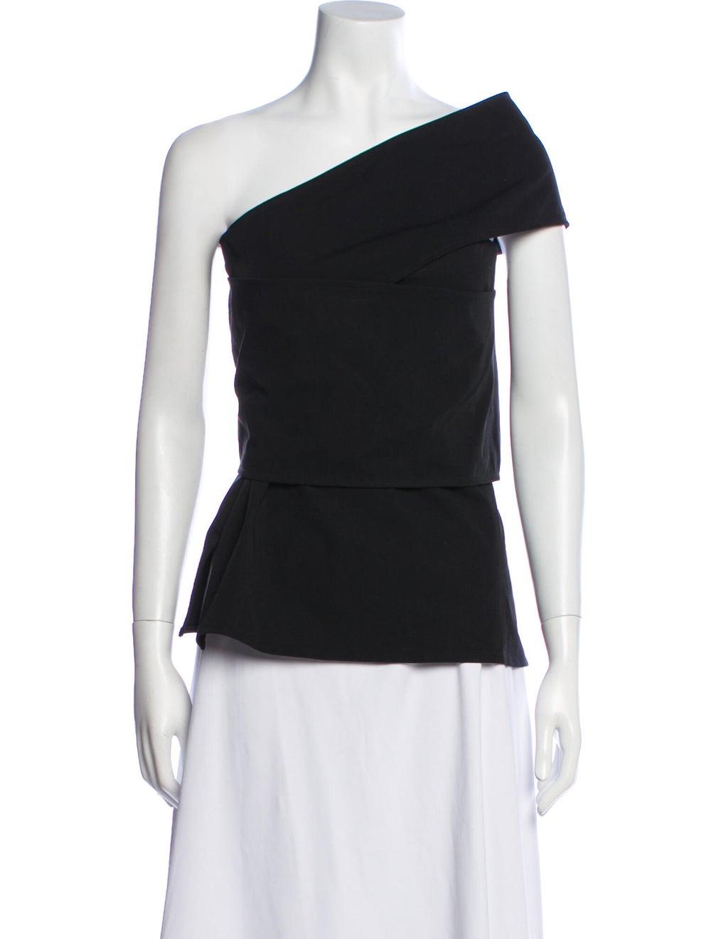 Beaufille One-Shoulder Short Sleeve Top Black - image 1