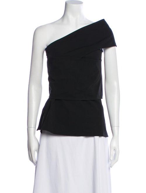 Beaufille One-Shoulder Short Sleeve Top Black