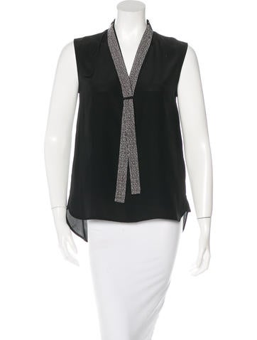 Belstaff Embellished Silk Top None