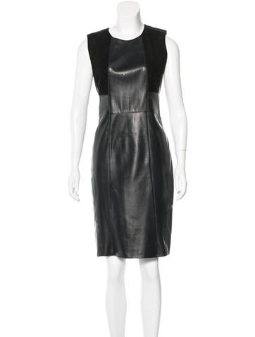Belstaff Leather Sleeveless Dress None