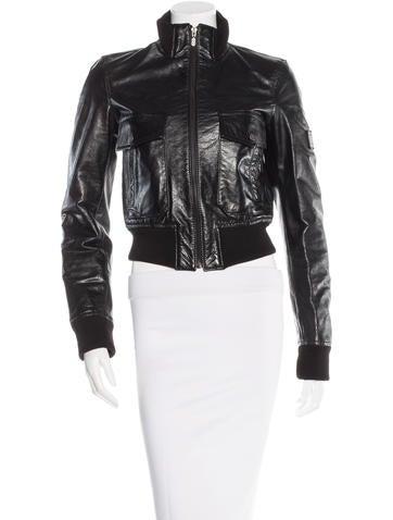 Belstaff Leather Bomber Jacket None