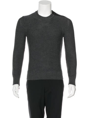 Belstaff Leather-Trimmed Wool Sweater None