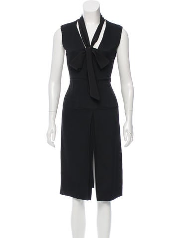 Belstaff Scarf-Accented Midi Dress w/ Tags None