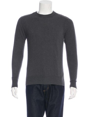 Belstaff Woven Crew Neck Sweater None