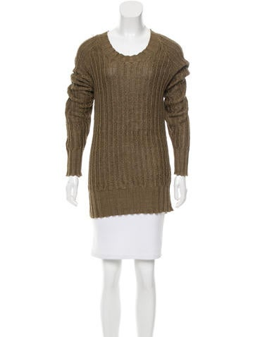 Belstaff Oversize Linen Sweater None