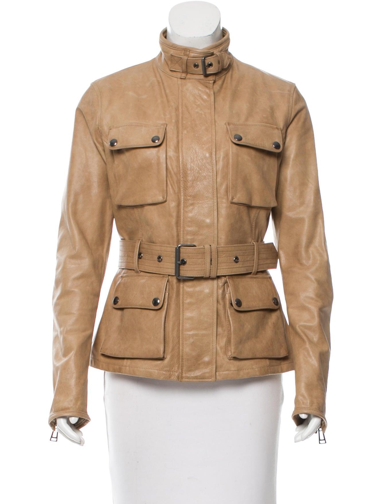 belstaff belted leather jacket clothing bel21907 the