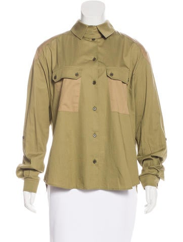 Belstaff Two-Tone Button-Up Top None